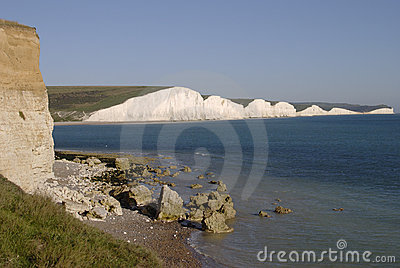 The Seven Sisters Cliffs.  England