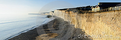 Seven Sisters cliffs panorama, UK