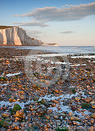 Free Seven Sisters Cliffs South Downs England Landscape Stock Image - 25743941