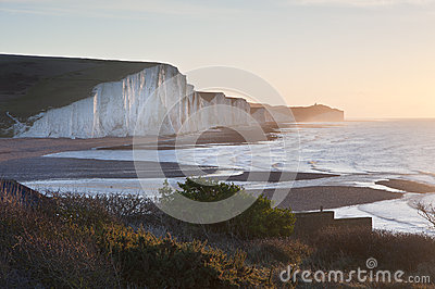 Seven Sisters sunrsie viewed from Seaford Head