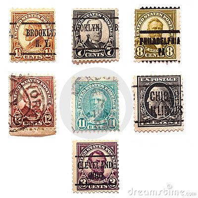 Seven Stamps of US Presidents