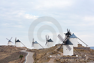 Seven windmills in Consuegra