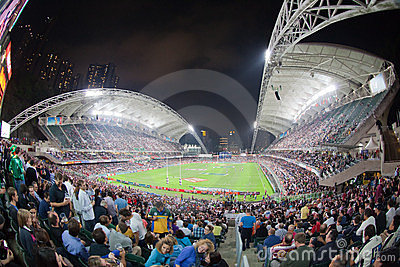 Sevens 2012 рэгби Hong Kong Редакционное Стоковое Изображение