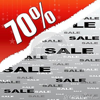 Sevent percent discount sale