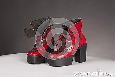 Seventies platform shoes