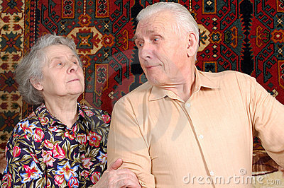 Seventy year old couple