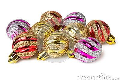 Several christmas balls