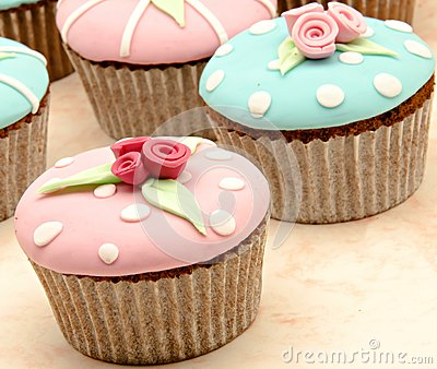 Several cupcakes