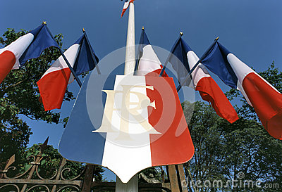 Several French tricolors