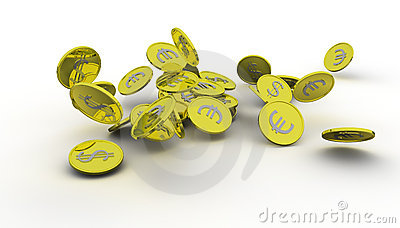 Several gold coins