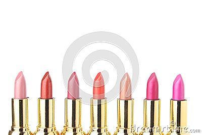 Several lipsticks for make up
