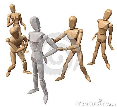 Several mannequins