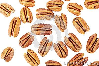 Several pecan nuts