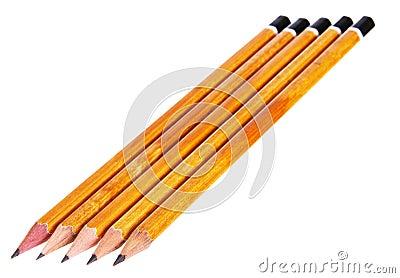 Several pencils