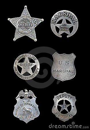 Free Several Police And Sheriff Badges Stock Photos - 11000823