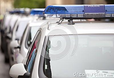 Several police car