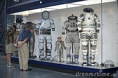 Several Space Suits at the Museum Editorial Stock Photo