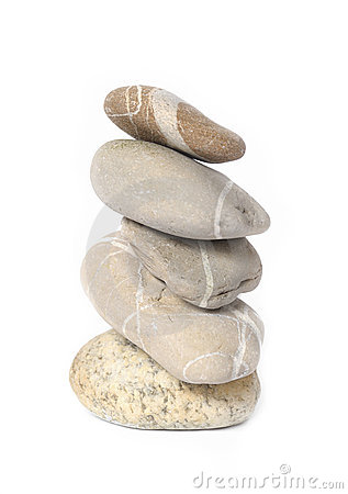 Several stones isolated