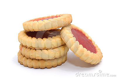 Several Tasty Biscuits With Marmalade Royalty Free Stock Images - Image: 8196879