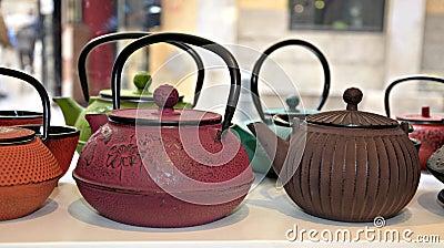 Several teapots