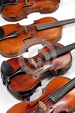 Several used fiddles