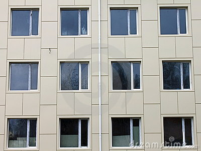 Several windows on the wall