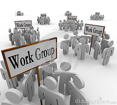 Free Several Work Groups Of Workers Divided Tasks Royalty Free Stock Photos - 31932948
