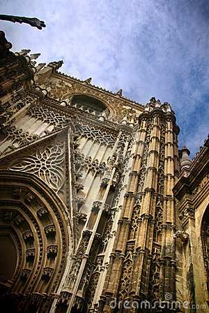 Sevilla Cathedral gothic entrance