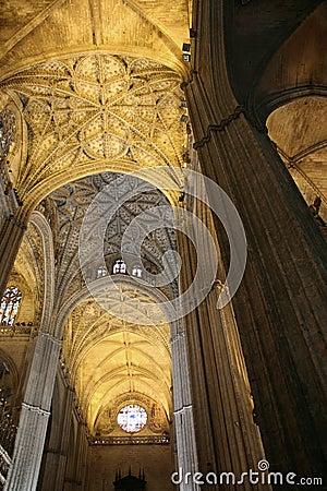 Sevilla Cathedral, gothic interiors