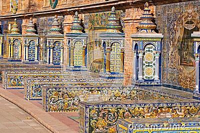 Sevilla spain square banks