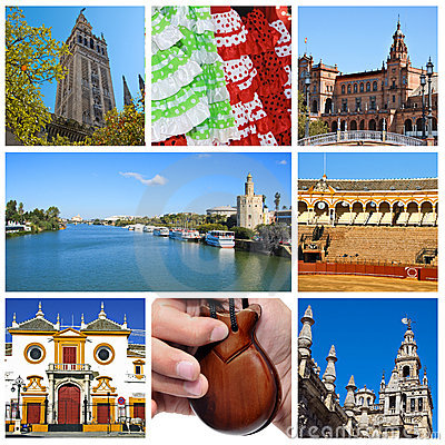 Free Seville Collage Royalty Free Stock Photography - 14937527