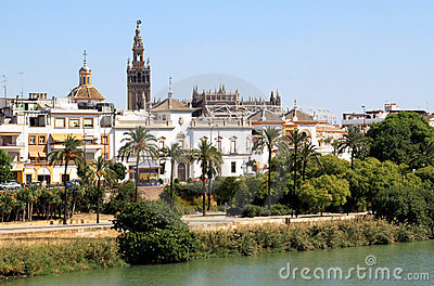 Seville and the Guadalquivir River, Spain