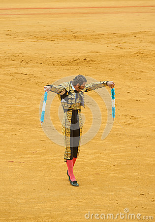 SEVILLE, SPAIN - April, 28: Matador Juan Jose Padilla at Maestra Editorial Stock Photo