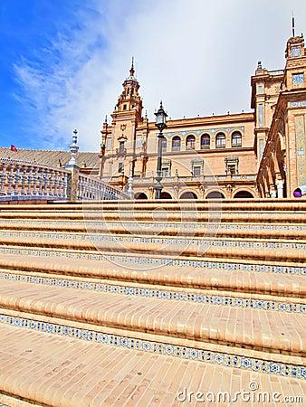 Seville, Spain - famous Plaza de Espana.