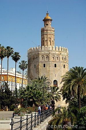Seville, Spain:  Torre de Oro (Gold Tower) Editorial Image