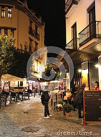Free Seville Street At Night Stock Image - 28345021