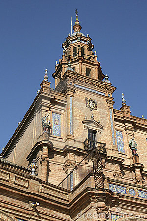 Free Seville - Tower Detail Of The Spanish Square Stock Photography - 15062082