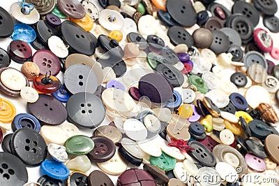 Sew colored button
