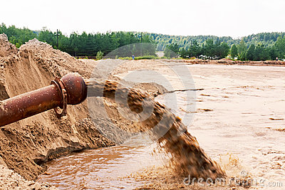 Sewage Flowing Royalty Free Stock Photography - Image: 24978417