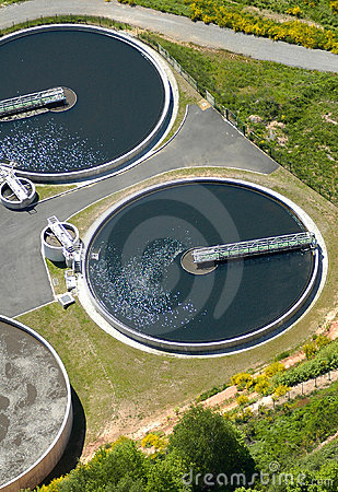 Free Sewage Treatment Plant Royalty Free Stock Photography - 8663677