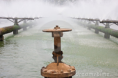 Sewage treatment system pipes
