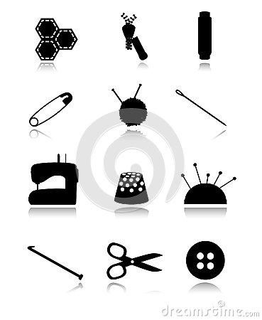 Sewing black icons