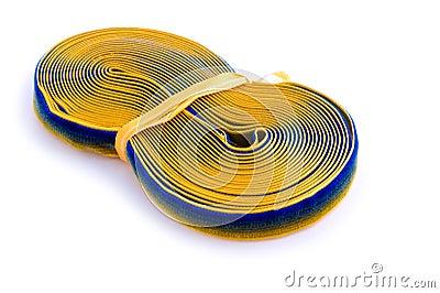Sewing braid on white