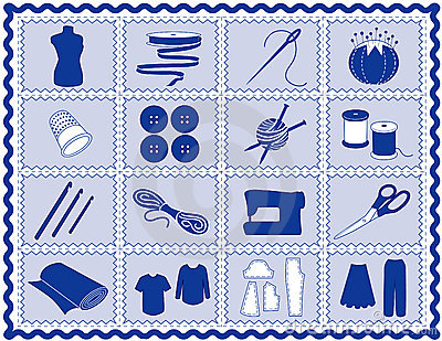 Sewing & Craft Icons, Rickrack Frame