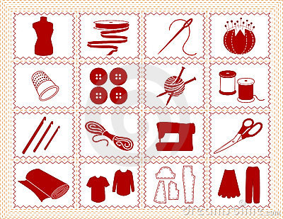 Sewing & Craft Icons, Stitchery Frame
