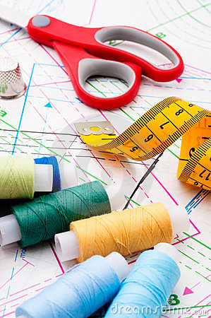 Free Sewing Items Royalty Free Stock Photo - 24233095