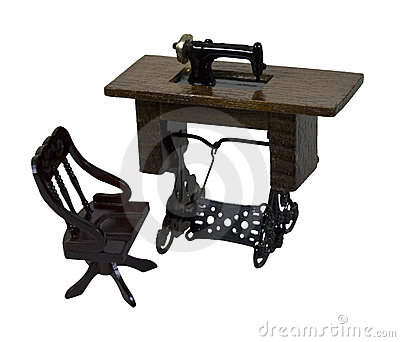 Sewing Machine and Chair