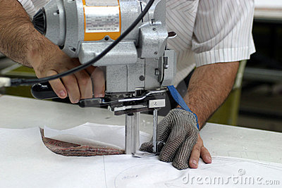 Sewing machine and hands