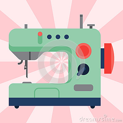 Free Sewing Machine Old Vintage Equipment Design Tool Craft Needle Fashion Handmade Vector Illustration. Royalty Free Stock Photos - 92656688