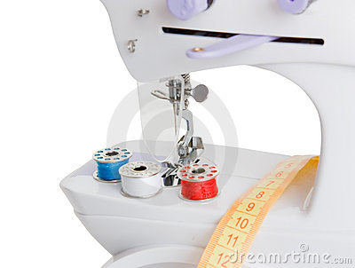 Sewing machine and spools